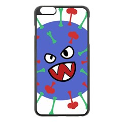 Monster Virus Blue Cart Big Eye Red Green Apple Iphone 6 Plus/6s Plus Black Enamel Case by AnjaniArt