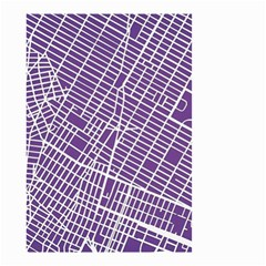 New York Map Art City Street Purple Line Small Garden Flag (two Sides) by AnjaniArt