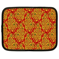 Flower Rose Red Yellow Sexy Netbook Case (large) by AnjaniArt