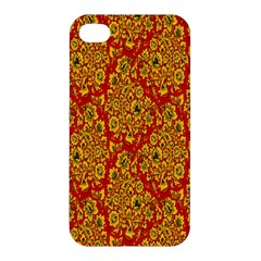 Flower Rose Red Yellow Sexy Apple Iphone 4/4s Hardshell Case by AnjaniArt
