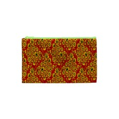 Flower Rose Red Yellow Sexy Cosmetic Bag (xs) by AnjaniArt