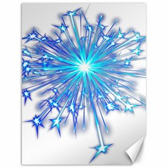 Fireworks Sky Blue Silver Light Star Sexy Canvas 12  X 16   by AnjaniArt