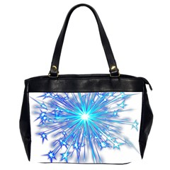 Fireworks Sky Blue Silver Light Star Sexy Office Handbags (2 Sides)  by AnjaniArt