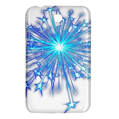Fireworks Sky Blue Silver Light Star Sexy Samsung Galaxy Tab 3 (7 ) P3200 Hardshell Case  by AnjaniArt