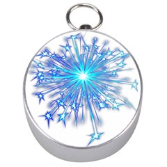 Fireworks Sky Blue Silver Light Star Sexy Silver Compasses by AnjaniArt