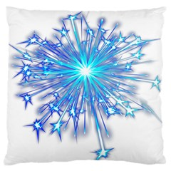 Fireworks Sky Blue Silver Light Star Sexy Standard Flano Cushion Case (two Sides) by AnjaniArt