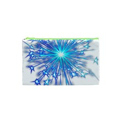 Fireworks Sky Blue Silver Light Star Sexy Cosmetic Bag (xs) by AnjaniArt