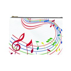 Rainbow Red Green Yellow Music Tones Notes Rhythms Cosmetic Bag (large)  by AnjaniArt