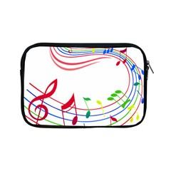 Rainbow Red Green Yellow Music Tones Notes Rhythms Apple Ipad Mini Zipper Cases by AnjaniArt