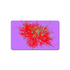 Spot Paint Red Green Purple Sexy Magnet (name Card) by AnjaniArt