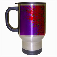 Spot Paint Red Green Purple Sexy Travel Mug (silver Gray) by AnjaniArt