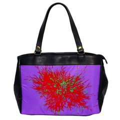 Spot Paint Red Green Purple Sexy Office Handbags by AnjaniArt
