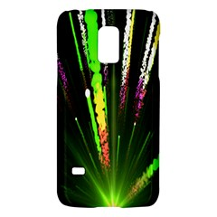 Seamless Colorful Green Light Fireworks Sky Black Ultra Galaxy S5 Mini by AnjaniArt