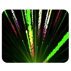 Seamless Colorful Green Light Fireworks Sky Black Ultra Double Sided Flano Blanket (medium)  by AnjaniArt