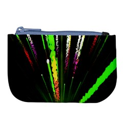 Seamless Colorful Green Light Fireworks Sky Black Ultra Large Coin Purse by AnjaniArt