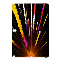 Seamless Colorful Light Fireworks Sky Black Ultra Samsung Galaxy Tab Pro 10 1 Hardshell Case by AnjaniArt