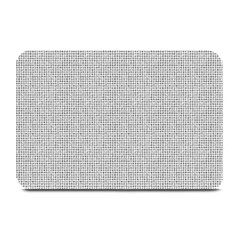 Line Black White Camuflage Polka Dots Plate Mats by AnjaniArt