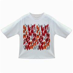 Rose Flower Red Orange Infant/toddler T Shirts by AnjaniArt