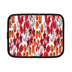 Rose Flower Red Orange Netbook Case (small)  by AnjaniArt