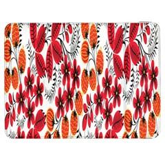 Rose Flower Red Orange Samsung Galaxy Tab 7  P1000 Flip Case by AnjaniArt