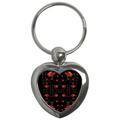Roses From The Fantasy Garden Key Chains (heart)  by pepitasart