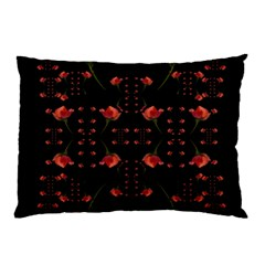Roses From The Fantasy Garden Pillow Case by pepitasart