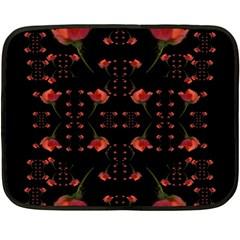 Roses From The Fantasy Garden Fleece Blanket (mini) by pepitasart