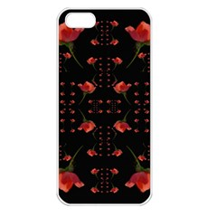 Roses From The Fantasy Garden Apple Iphone 5 Seamless Case (white) by pepitasart