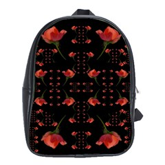 Roses From The Fantasy Garden School Bag (xl) by pepitasart