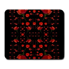 Pumkins And Roses From The Fantasy Garden Large Mousepads by pepitasart
