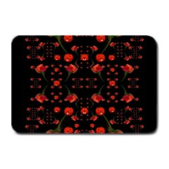 Pumkins And Roses From The Fantasy Garden Plate Mats by pepitasart