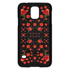 Pumkins And Roses From The Fantasy Garden Samsung Galaxy S5 Case (black) by pepitasart