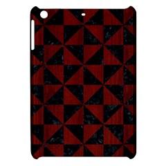 Triangle1 Black Marble & Reddish Brown Wood Apple Ipad Mini Hardshell Case by trendistuff