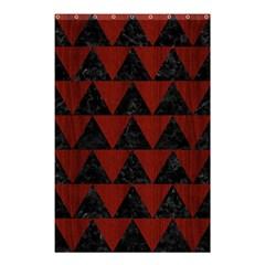 Triangle2 Black Marble & Reddish Brown Wood Shower Curtain 48  X 72  (small)  by trendistuff