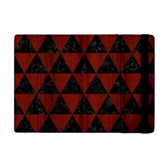 Triangle3 Black Marble & Reddish Brown Wood Apple Ipad Mini Flip Case by trendistuff