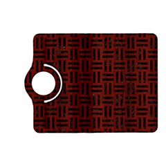 Woven1 Black Marble & Reddish Brown Wood Kindle Fire Hd (2013) Flip 360 Case by trendistuff