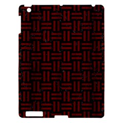 Woven1 Black Marble & Reddish Brown Wood (r) Apple Ipad 3/4 Hardshell Case by trendistuff