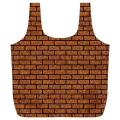 Brick1 Black Marble & Rusted Metal Full Print Recycle Bags (l)  by trendistuff