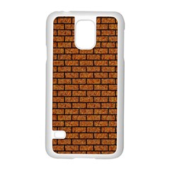 Brick1 Black Marble & Rusted Metal Samsung Galaxy S5 Case (white) by trendistuff