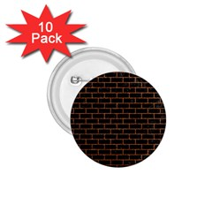Brick1 Black Marble & Rusted Metal (r) 1 75  Buttons (10 Pack) by trendistuff