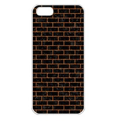 Brick1 Black Marble & Rusted Metal (r) Apple Iphone 5 Seamless Case (white) by trendistuff