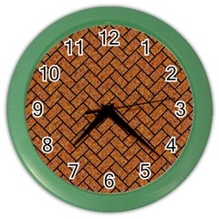 Brick2 Black Marble & Rusted Metal Color Wall Clocks by trendistuff