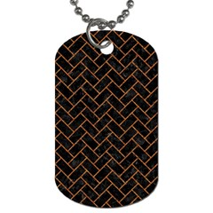 Brick2 Black Marble & Rusted Metal (r) Dog Tag (two Sides) by trendistuff