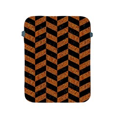 Chevron1 Black Marble & Rusted Metal Apple Ipad 2/3/4 Protective Soft Cases by trendistuff