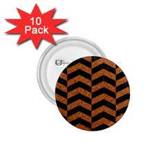 Chevron2 Black Marble & Rusted Metal 1 75  Buttons (10 Pack) by trendistuff