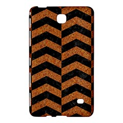 Chevron2 Black Marble & Rusted Metal Samsung Galaxy Tab 4 (7 ) Hardshell Case  by trendistuff