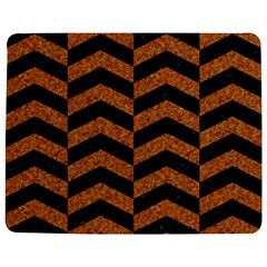 Chevron2 Black Marble & Rusted Metal Jigsaw Puzzle Photo Stand (rectangular) by trendistuff