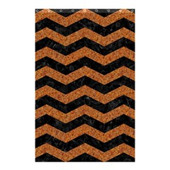 Chevron3 Black Marble & Rusted Metal Shower Curtain 48  X 72  (small)  by trendistuff