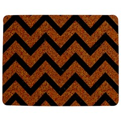 Chevron9 Black Marble & Rusted Metal Jigsaw Puzzle Photo Stand (rectangular) by trendistuff