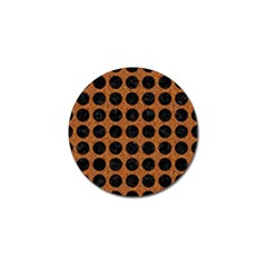 Circles1 Black Marble & Rusted Metal Golf Ball Marker by trendistuff